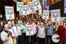 BJP Heads To Spectacular Win As Modi's Wave Sweeps Across India