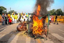 'Shameful Drama': BJP Condemns Congress Over Tractor-Burning Incident Near India Gate