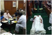 Karnataka BJP Lawmakers Sleep In Assembly To Stage Protest Against Delay In Floor Test