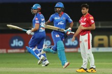 KXIP Vs DC: Dhawan Nears Hundred; Delhi 145/4 (18)