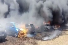 About 300 Cars Gutted As Fire Breaks Out At Aero India 2019 Parking Space In Bengaluru