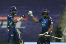 KKR Vs MI LIVE: Rohit Falls For 80, But Hardik On Fire
