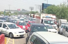 Heavy Traffic Jam At Delhi-Noida Border On First Day Of Lockdown 4.0