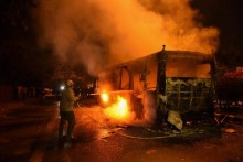 Violent Clashes In South Delhi Against Citizenship Act; Buses Set Ablaze, Police Use Tear Gas, Lathicharge