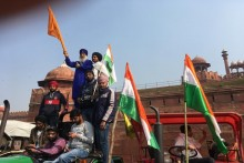 Farmers' Tractor Rally: Police Lathi-Charge Protesters At Red Fort