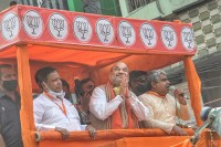 Bengal: Home Minister Amit Shah Holds 3 Rallies A Day After State Logs Over 10,000 Covid Cases