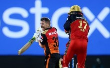 Warner Departs After Fifty, Hyderabad's Chase Falters