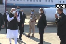 PM Reaches Ahmedabad To Review Zydus's Progress On Covid Vaccine