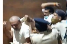 Watch: Violence Erupts Outside Bihar Assembly Amid Opposition's Protest Over New Police Bill