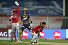 KKR Vs KXIP: Bishnoi Gets Cummins; Kolkata 115/7 (16)