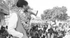 Amitabh campaigning in Allahabad, 1984
