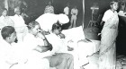 Formative years: A young Mayawati at the mike; Kanshi Ram is second from left