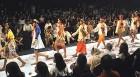 Frontlines: Models parade Deepak Perwani's creations; below, an Ismail Fareed get-up