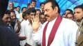 Rajapaksa on a recent visit to a refugee camp in Vavuniya