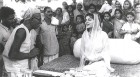Duty time: As maharani of Jaipur, Gayatri Devi reached out to its people.