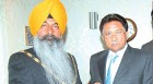 Musharraf with Slough mayor and ex-Khalistani Bal at a Pakistan Day celebration
