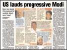 <b>High praise</b> CRS thumbs-up to Modi