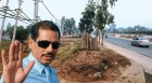 Man of property Robert Vadra near his land at Gurgaon