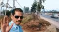 Man of property Robert Vadra near his land at Gurgaon