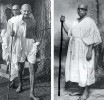 <b>I renounce...</b> Gandhi in 1941; Ambedkar in his Buddhist deeksha robes