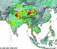 A satellite image warns of rain