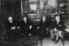 The four leaders of the most powerful nations who attended the Paris Peace Conference, 1919: Woodrow Wilson (American President), David Lloyd George (British Prime Minister), Vittorio Orlando (Italian Premier), and Georges Clemenceau (French Premier).