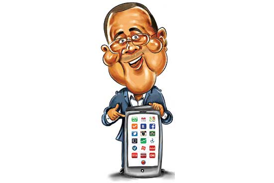 19 Apps On Chetan Bhagat's Mobile Phone