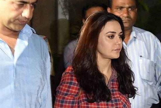 June 24: Preity Zinta comes out of BCCI headquarters in Mumbai.