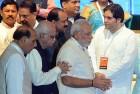 <b>Right of way</b> Modi, Varun at a BJP meet