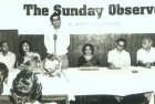 Vinod Mehta at the launch of <i>The Sunday Observer</i>