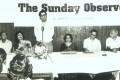 Vinod Mehta at the launch of <i>The Sunday Observer</i>