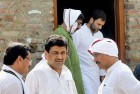 <b>In alignment</b> Ashok Chavan (middle) with Rahul in the Vidarbha region