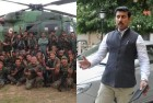 <b>Shoot 'em up</b> The photograph of the 21 Para regiment leaked to the media which the army   later denied releasing; MoS Rajyavardhan Rathore, the #56InchRocks tweeter