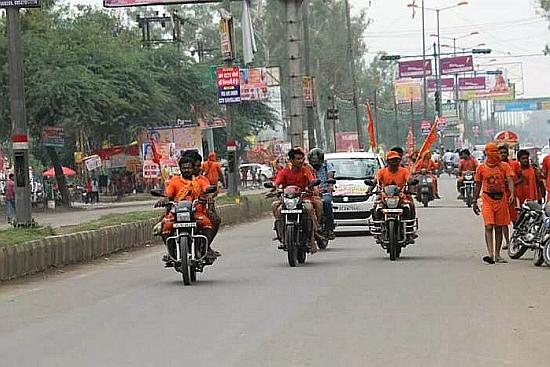 Men Marching Through Cities