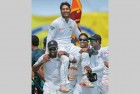 <b>Island raj</b> India vanquished at Galle, Sanga rides his adoring teammates