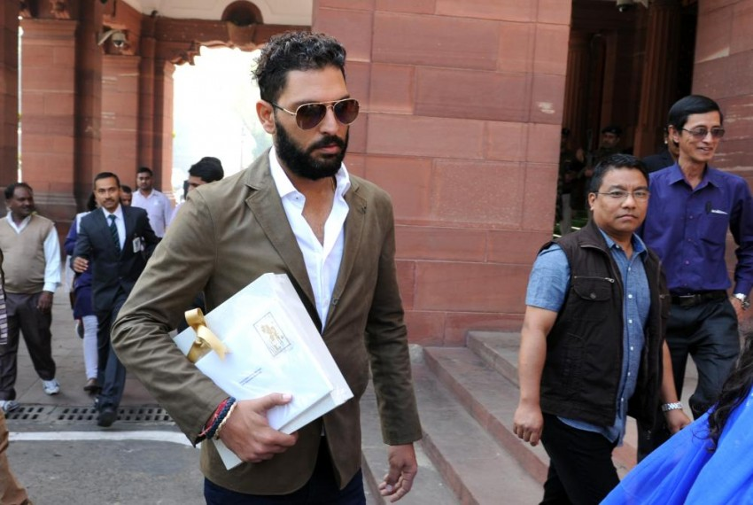 What Was Yuvraj Singh Doing At Parliament Today?