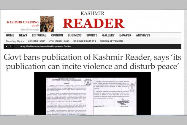 Nearly 3 Months After, Mehbooba Govt Lifts Ban On 'Kashmir Reader'