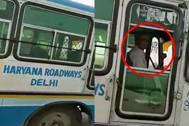 Haryana Roadways Suspends Driver After He Was Caught Smoking Hookah While Driving