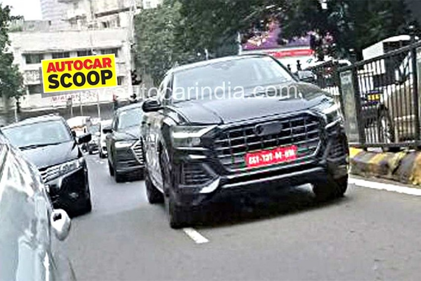 Upcoming Audi Q8 Spied In India