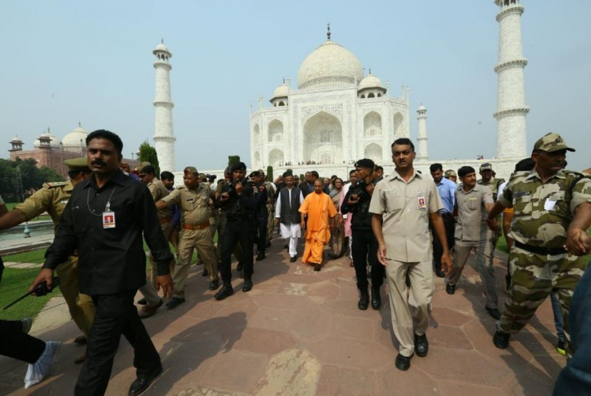 Villagers Locked Up Inside Houses For Crowd Control During Yogi's Visit To Taj Mahal, Says Report