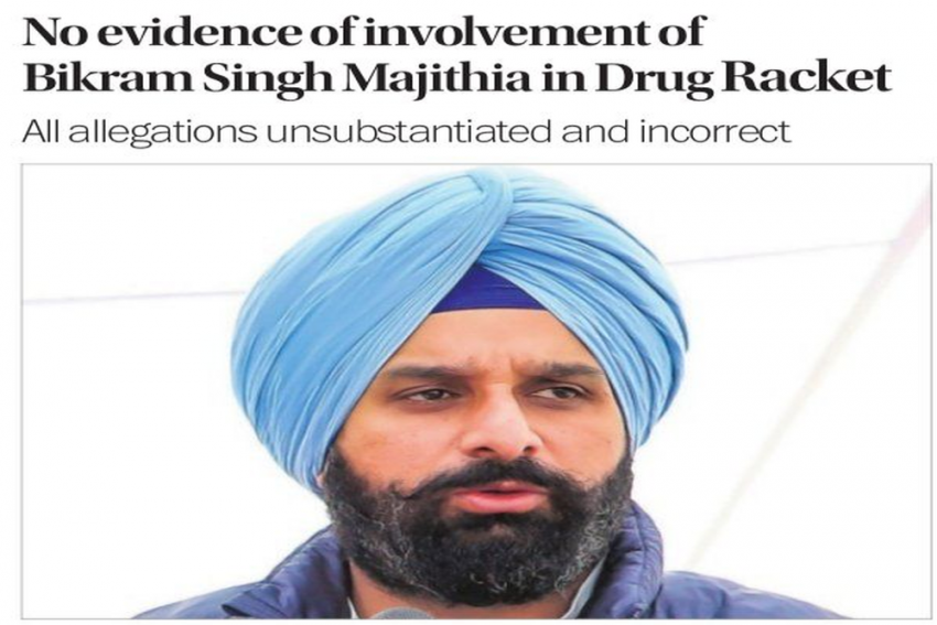 Tribune's Front-Page Apology For Drug Story Against Majithia Sparks Tension Between Editorial And Trust