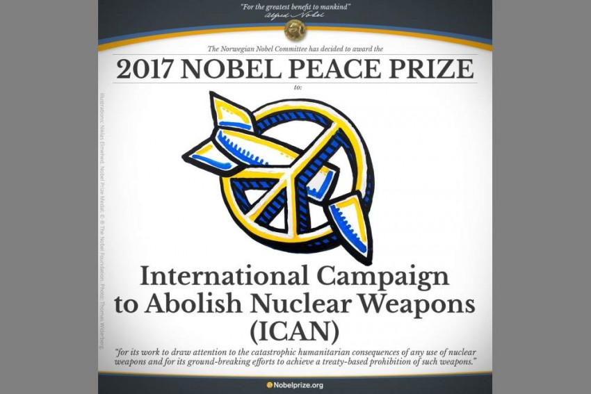 International Campaign To Abolish Nuclear Weapons Awarded Nobel Peace Prize 2017
