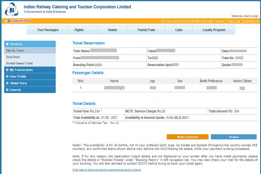 Aadhaar Verified Passengers Can Now Book Up To 12 Tickets In One Month On IRCTC Portal