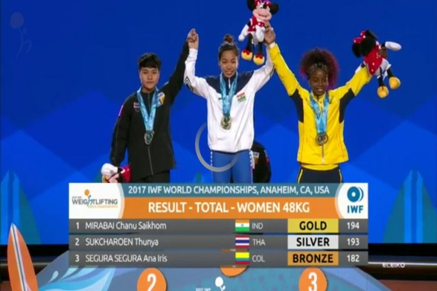 Mirabai Chanu Becomes First Indian In More Than 20 Years To Win Gold Medal At World Weightlifting Championship
