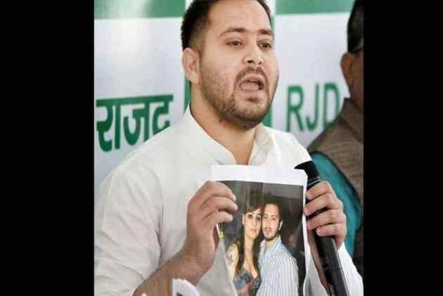 JD(U) Releases Tejashwi Yadav's Merrymaking Picture, RJD Leader Hits Back Saying What's So Objectionable