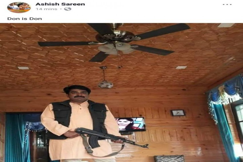 BJP's J&K Leader Ashish Sareen Brandishes AK-47 Rifle On Facebook, Picture Goes Viral
