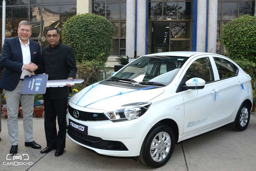 Tata Delivers First Batch Of Tigor EVs To EESL