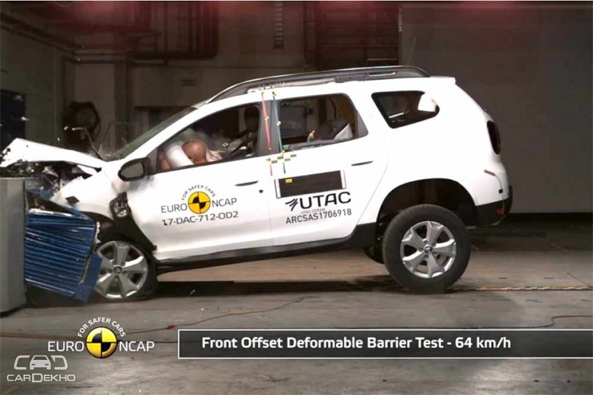 2018 Duster Scores 3 Stars In Euro NCAP Crash Tests