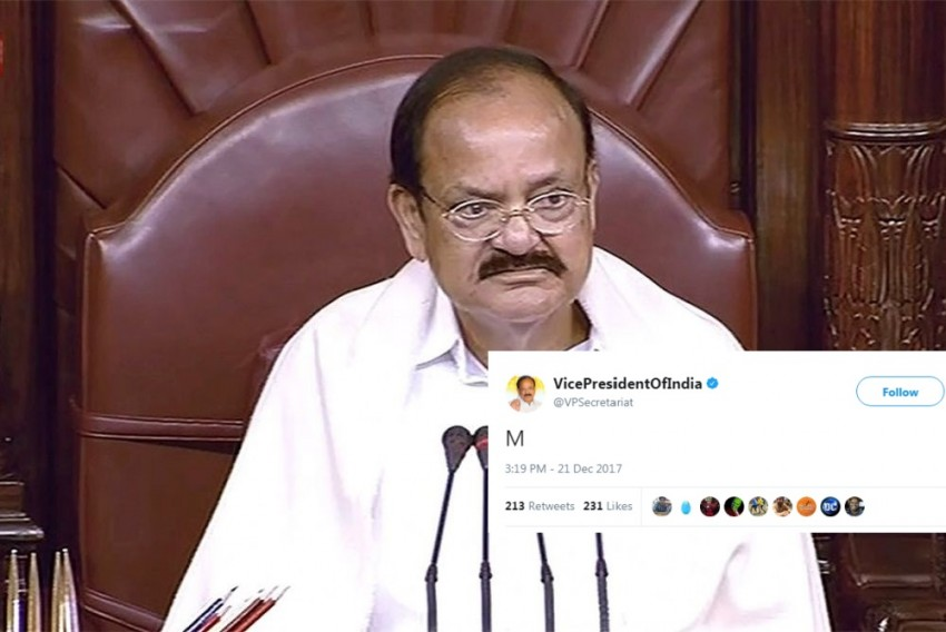 'Covfefe' Moment For Vice President Venkaiah Naidu: Twitter Users Decipher What 'M' Means