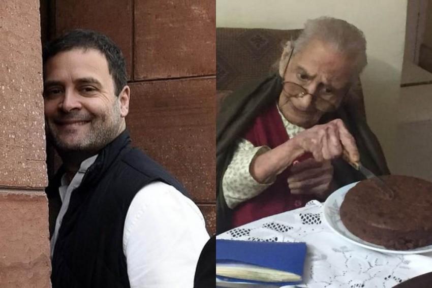 'Handsome' Rahul Gandhi Sends 'Big Hug' To 107-Yr-Old Admirer On Her Birthday